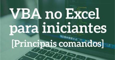 Principais Comandos de VBA no Excel para iniciantes