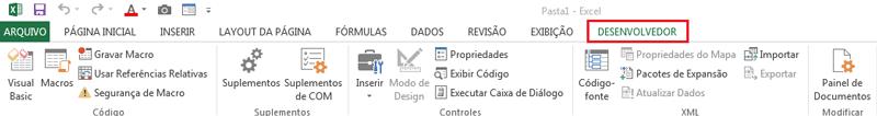 Excel guia desenvolvedor exibir