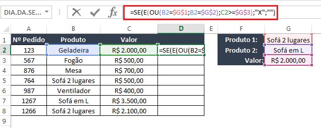 Como usar Função SE OU E no Excel