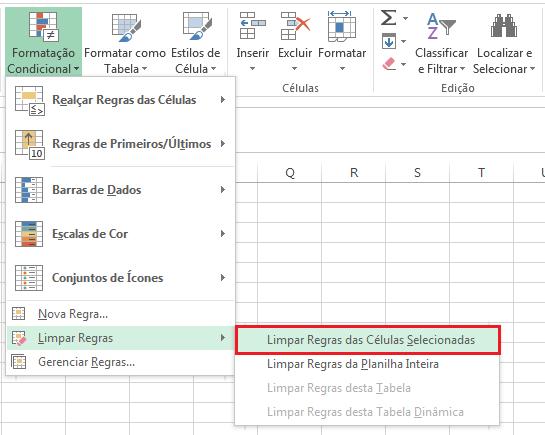Como remover a Formatação
