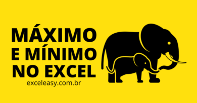 Máximo e Mínimo no Excel