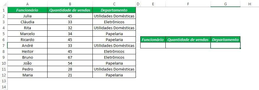 Banco de Dados no Excel