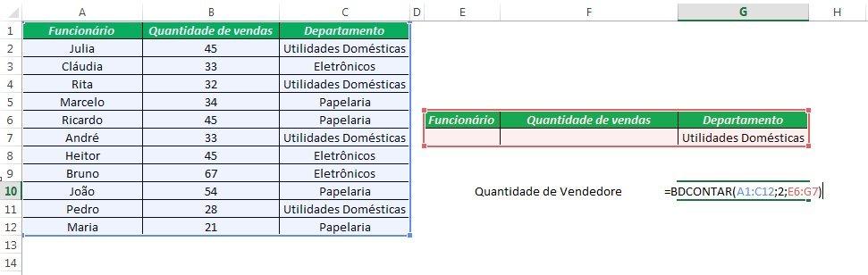 Excel Banco de Dados