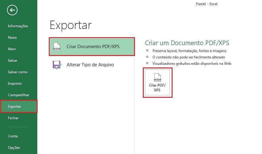 converter excel em pdf
