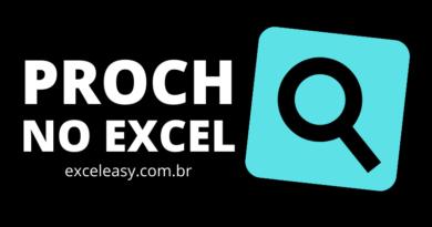 Função PROCH no Excel - exemplo práticos