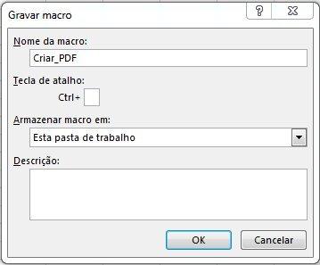 Como criar Macro para exportar PDF