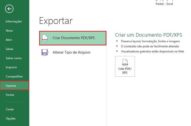 Criando uma Macro para exportar PDF