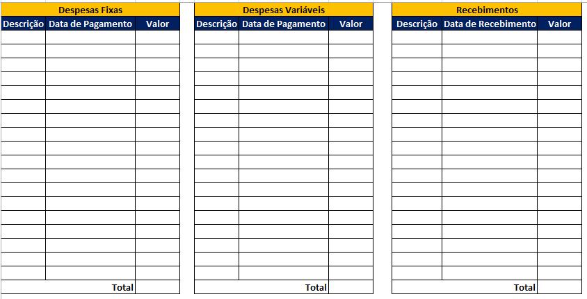 Saiba como criar um Fluxo de caixa no Excel