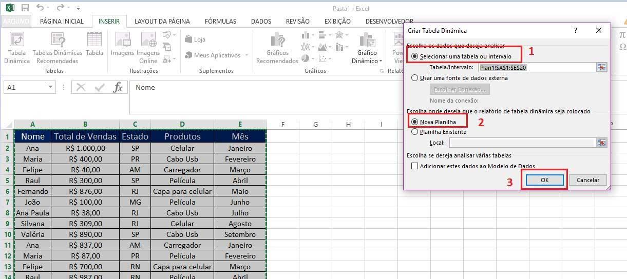Tabela Dinâmica no Excel tutorial