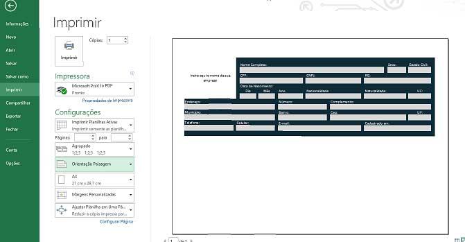 Como Configurar Impressão no Excel, passo 11