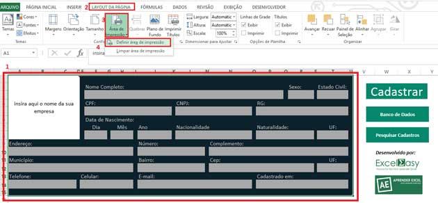 Como Configurar Impressão no Excel. Primeiro passo.