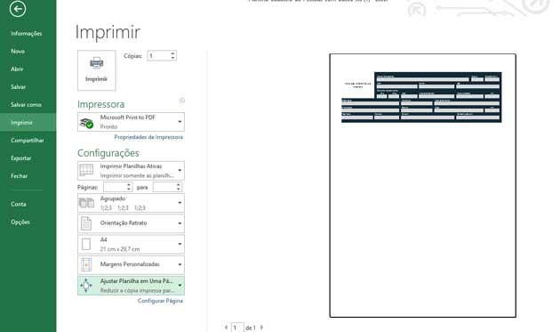 Como Configurar Impressão no Excel,passo 10