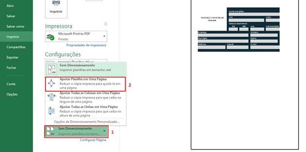 Como Configurar Impressão no Excel,passo 9