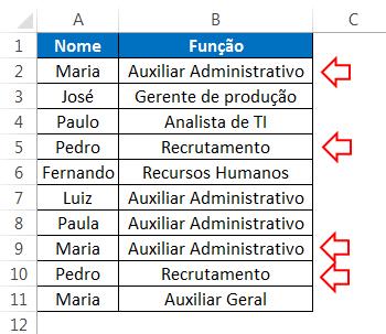 excluir duplicatas no Excel