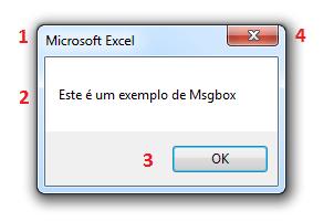 Composição de um MsgBox no Excel