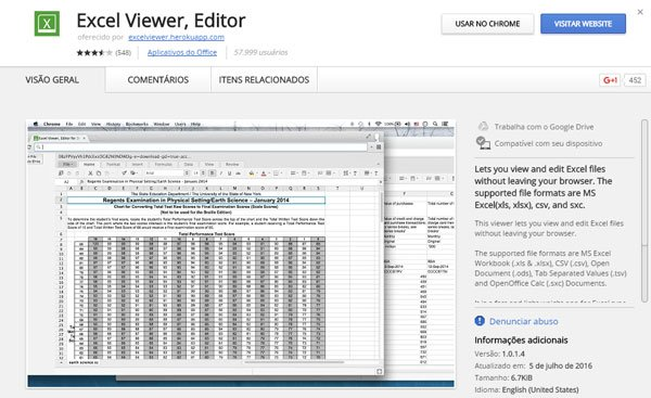 Ferramentas para abrir Excel Online