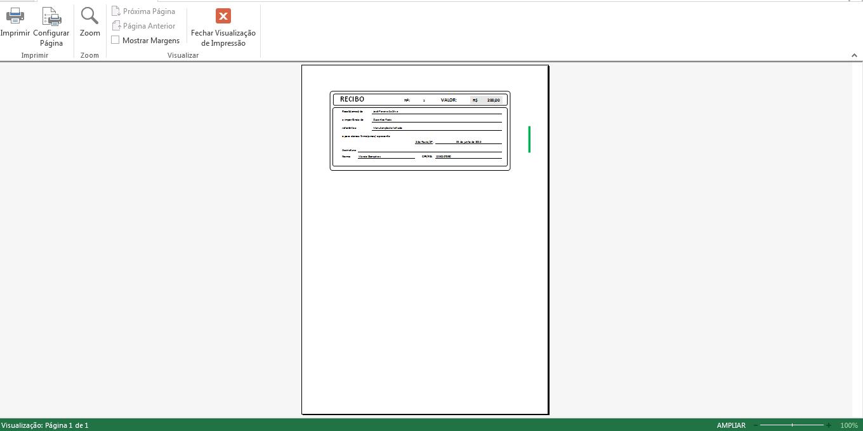 Recibo no Excel modelo grátis