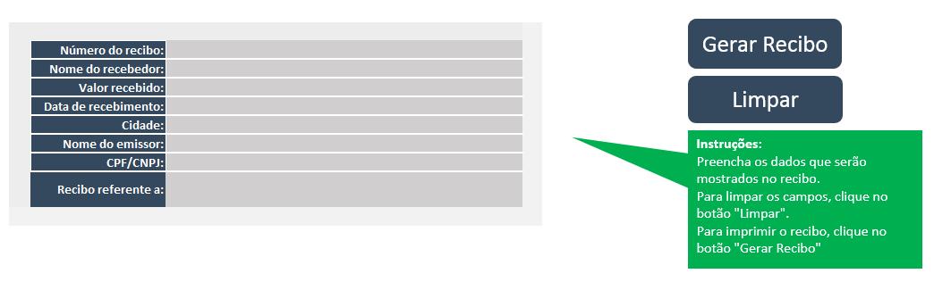 Recibo no Excel