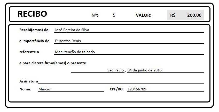 Planilha Recibo no Excel - Baixe Grátis