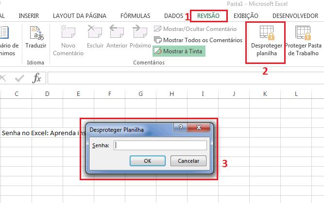 Como bloquear planilha com senha Excel