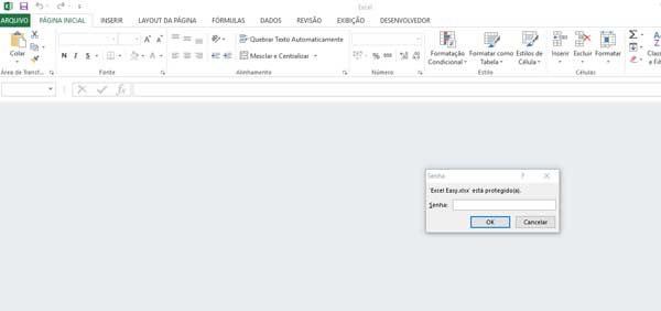 Senha no Excel