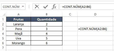 Estatística no Excel