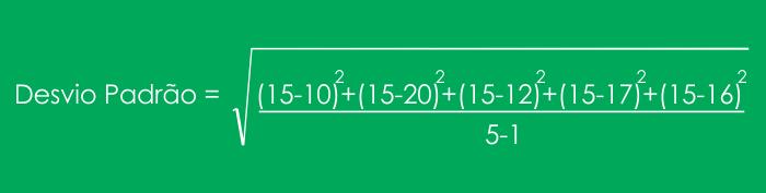 Fórmula de Desvio Padrão Excel