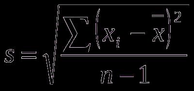 Fórmula de Desvio Padrão
