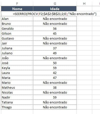 Saiba como utilizar as funções SEERRO e PROCV no Excel