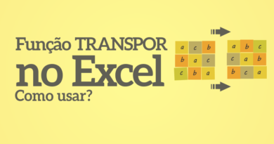 Função Transpor no Excel