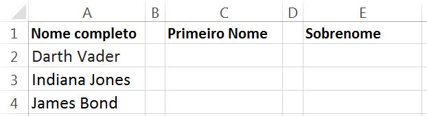 função direita e esquerda no Excel