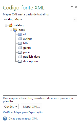 Como usar o XML no Excel