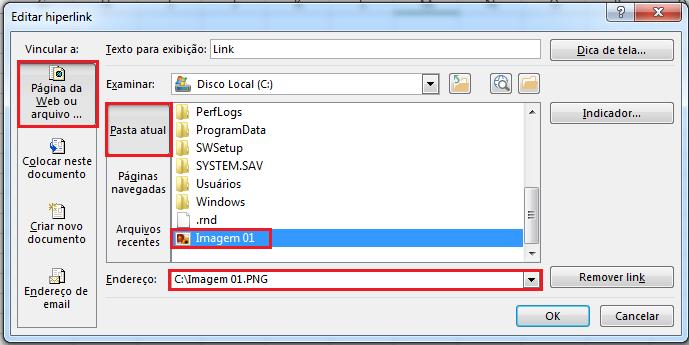 Como colocar hiperlink no Excel