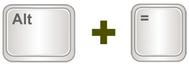 AutoSoma no Excel atalho