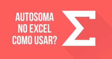 AutoSoma no Excel como usar