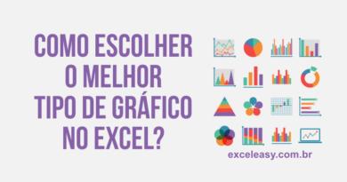 Aprenda Como escolher o melhor tipo de gráfico no Excel