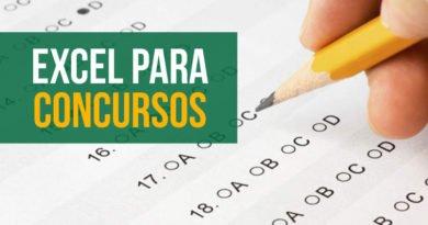 Excel para concursos - dicas de estudo