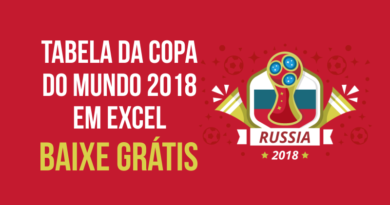 Download Planilha da Copa do Mundo 2018