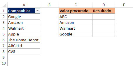 procv com caracteres curinga no Excel