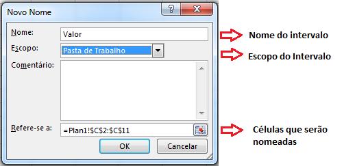 Novo nome Excel