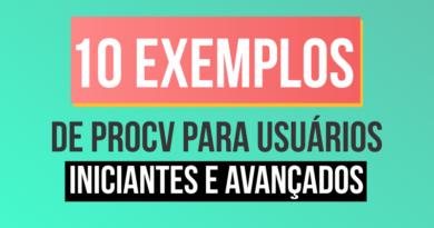 10 exemplos de PROCV no Excel