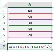 média no Excel