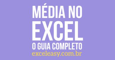 Como calcular a Média no Excel