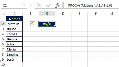 pesquisa com espaços no Excel