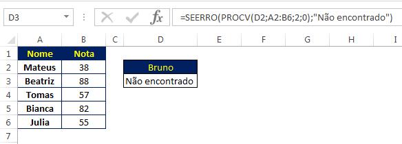 procv com seerro