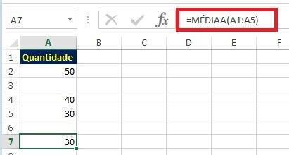 Função MÉDIAA - como calcular a média no excel