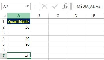 Função média no Excel - como calcular