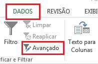 Filtro Avançado no Excel
