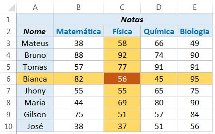 Quando usar a função ÍNDICE no Excel