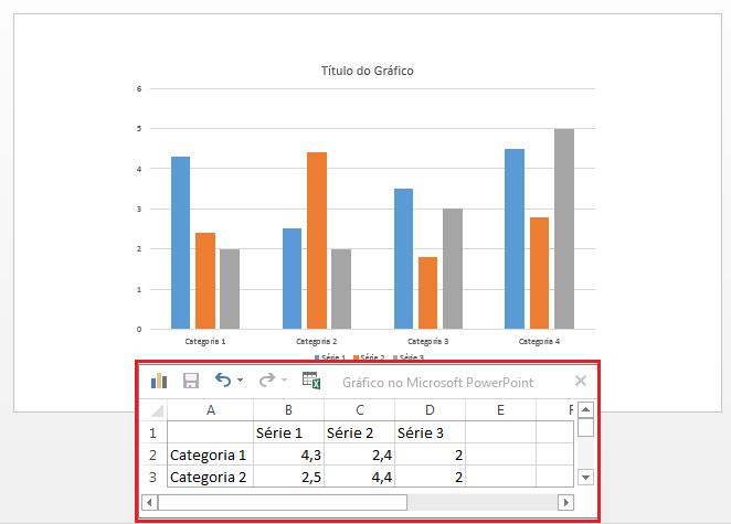 transferir do Excel para o PowerPoint